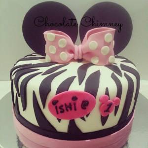 minnie zebra print cake