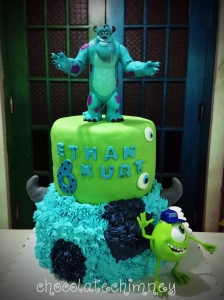 Sully & MIke of Monsters Inc. for a birthday cake