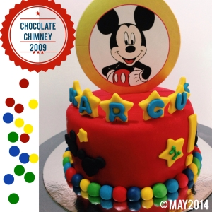 red mickey cake