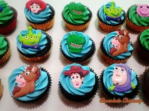 another cupcake order with main characters as toppers
