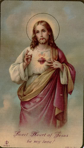 sacred heart of jesus card